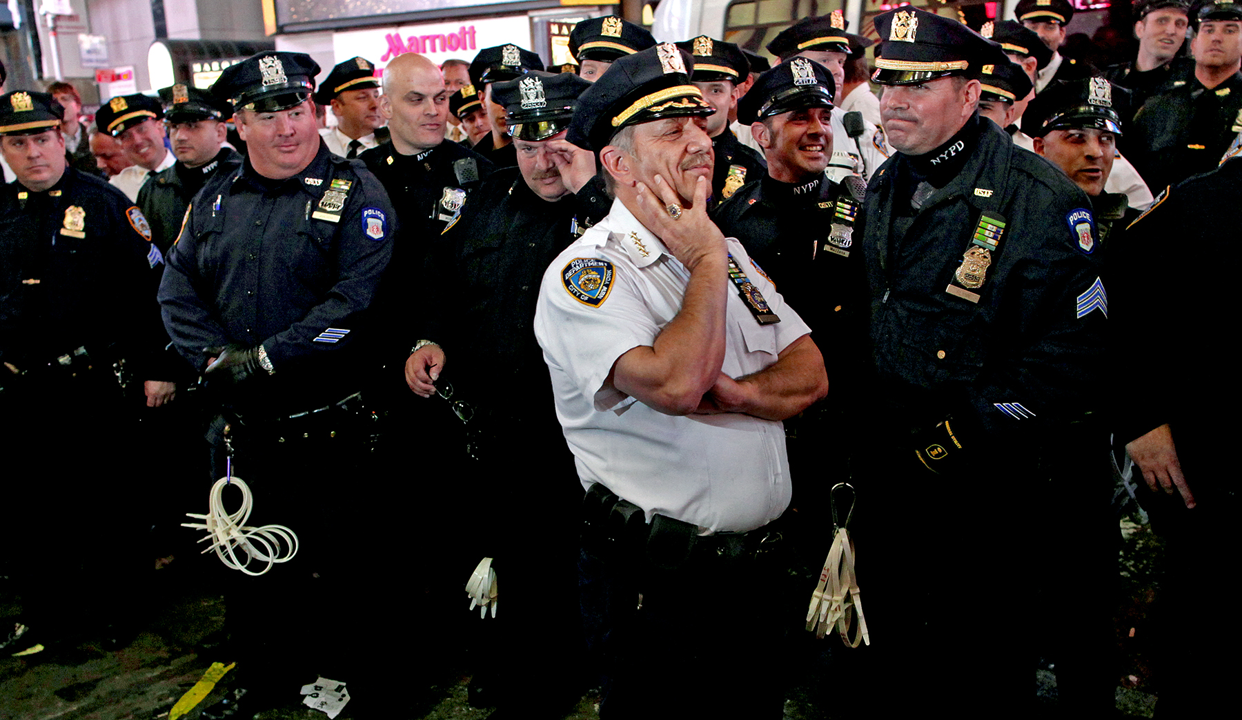 "Occupy Wall Street: NYPD cheered (""we love you"") for restraint during clash, 2011"