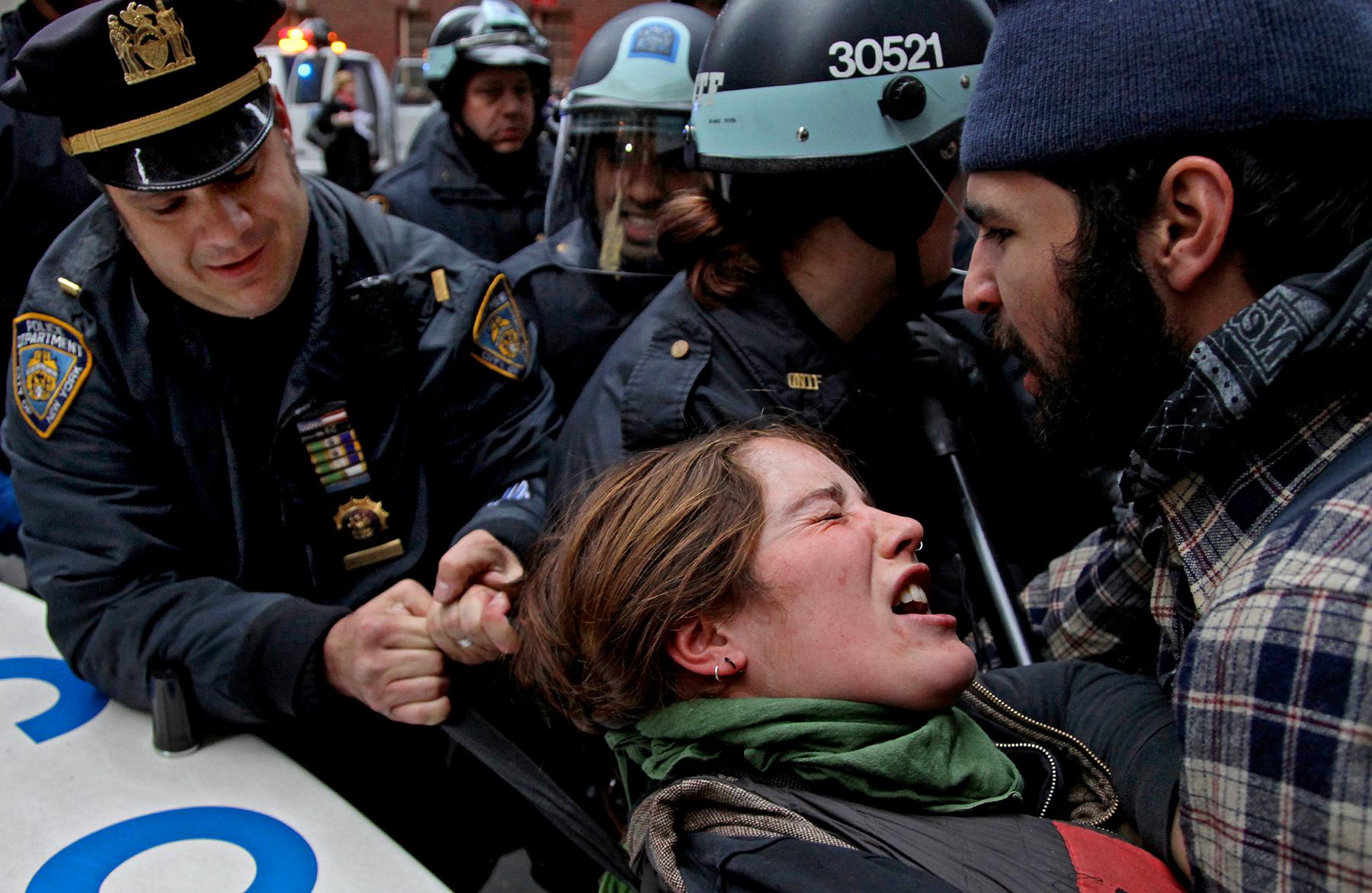 Occupy Wall Street clash, 2011