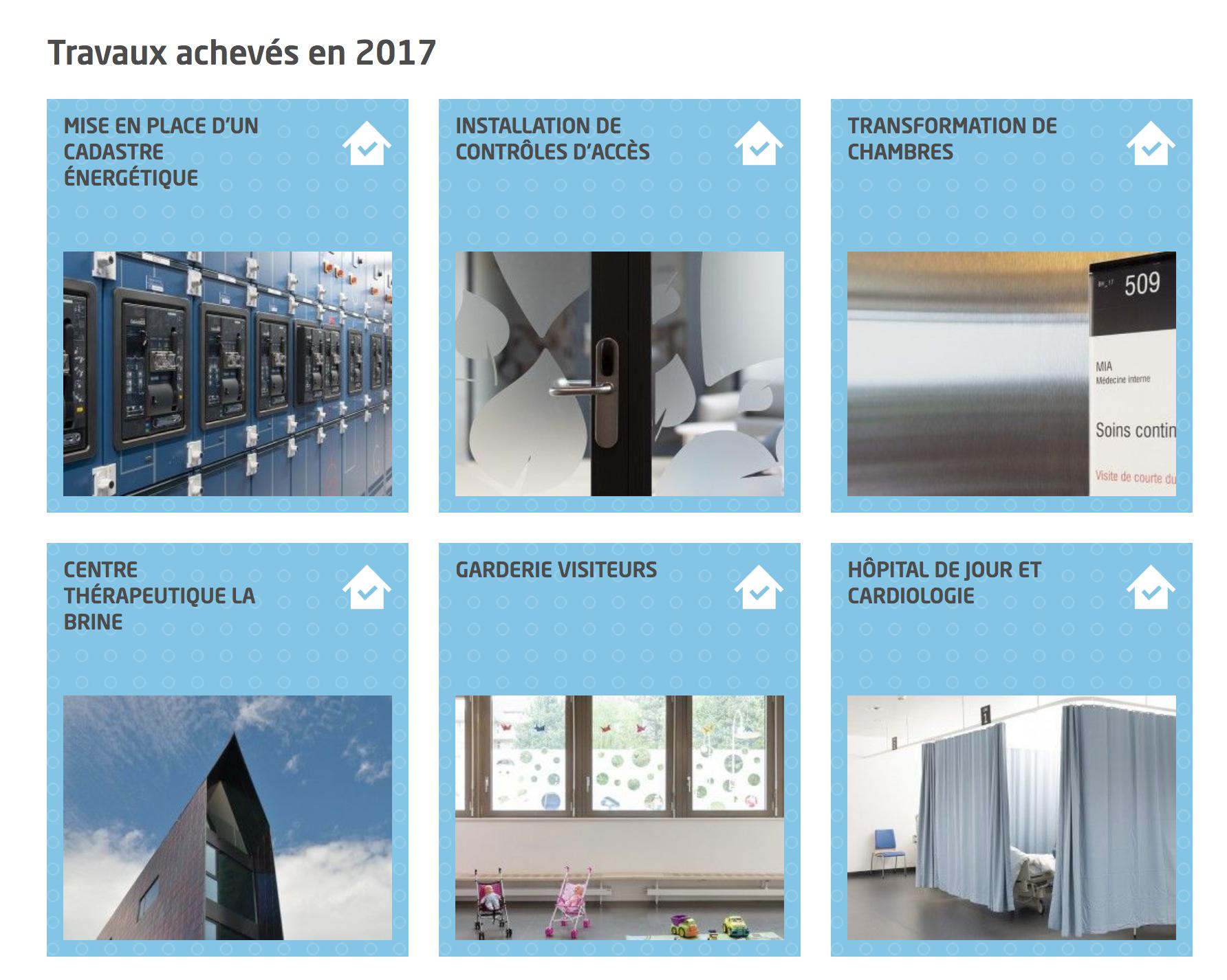 Affichage de la liste des constructions (collection)