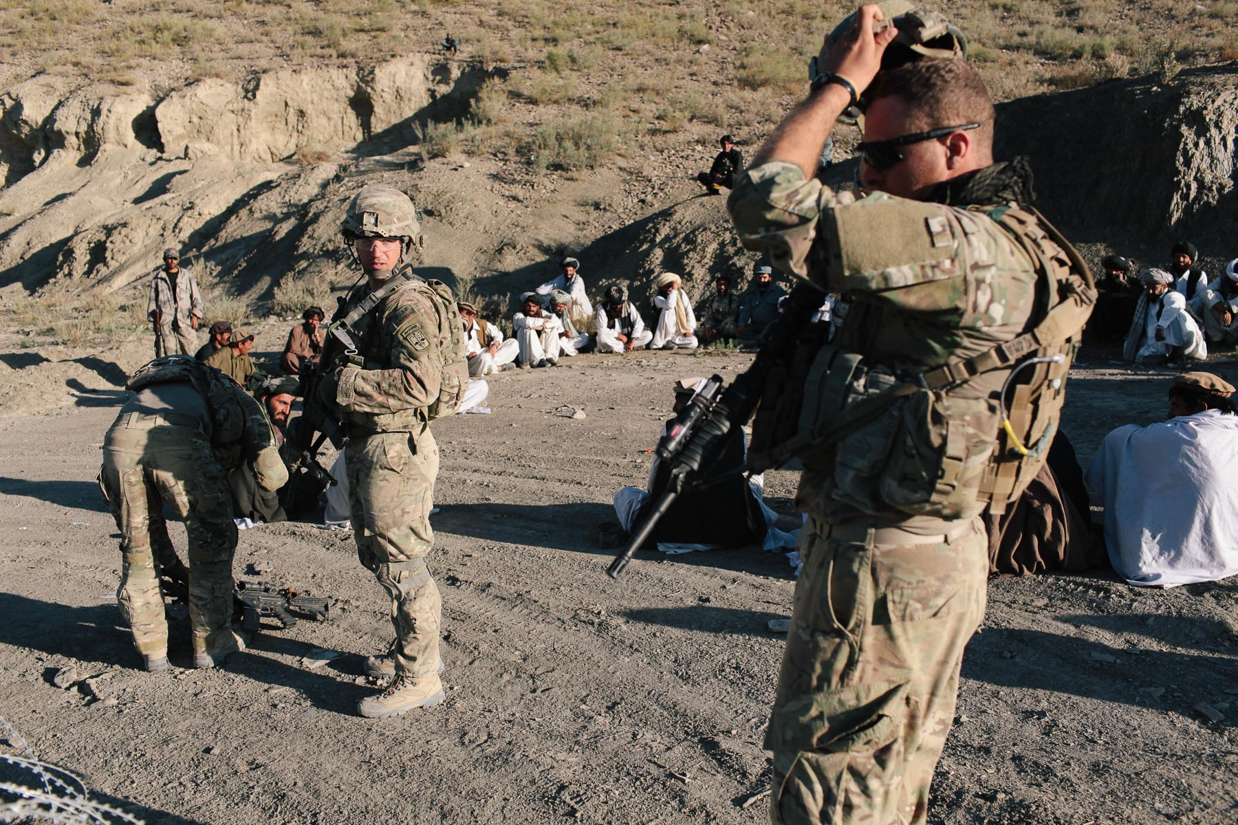US personnel hold a security shura in a remote area to assess local conditions and try to understand the social and political landscape.