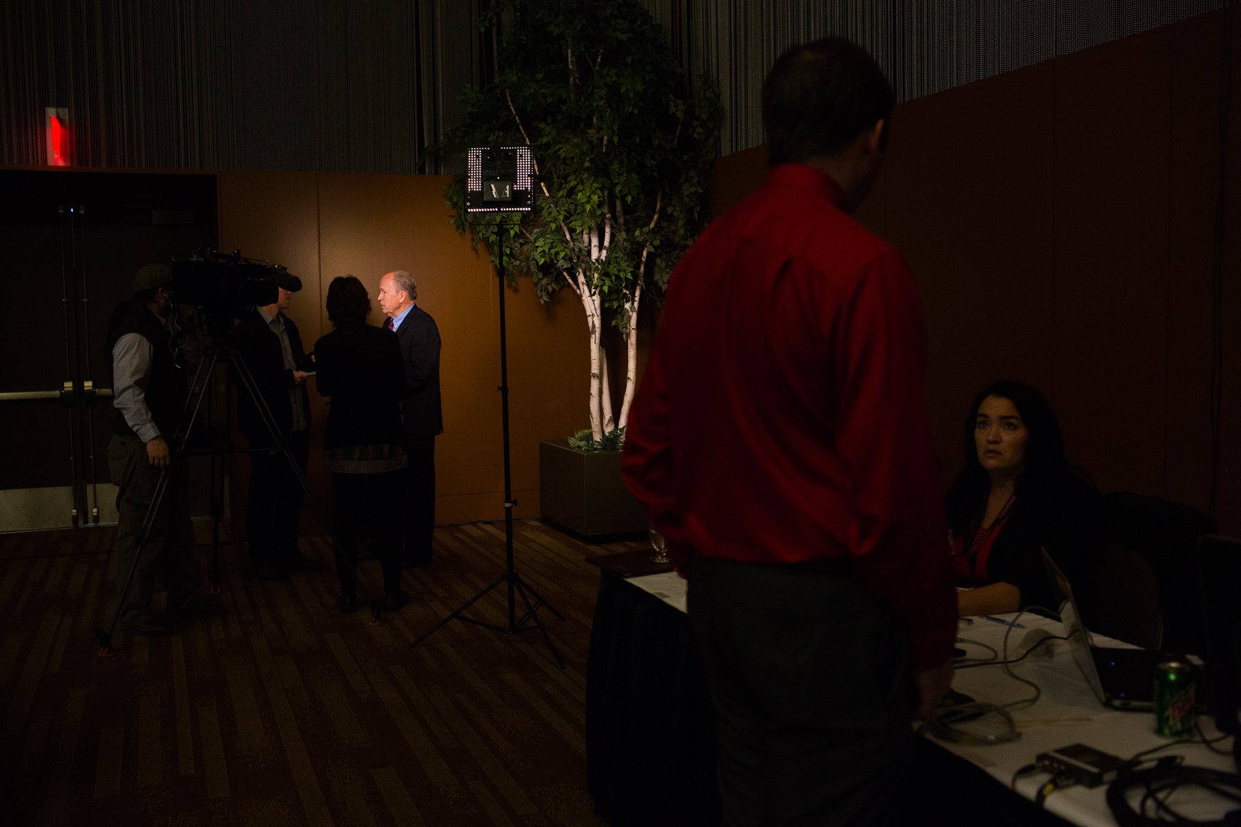 Alaska Governor Elect Bill Walker gave interviews following his remarks at the 35th annual Alaska Resources Conference in Anchorage, Alaska on Thursday, November 20, 2014.