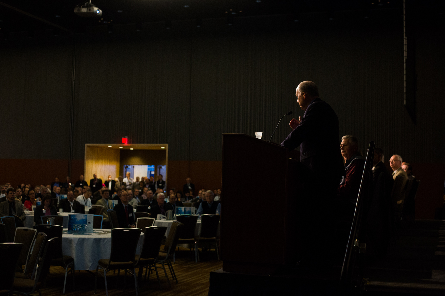 Alaska Governor Elect Bill Walker delivered remarks at the 35th Alaska Resources Conference held by the Resource Development Council of Alaska at the Dena'ina Center in Anchorage, Alaska on Thursday, November 20, 2014.