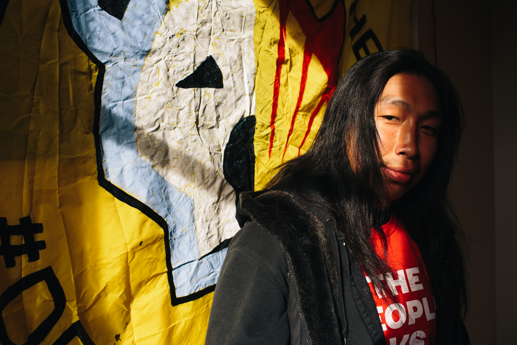 Ryan Joe, 26, a Yupik college student from Anchorage, is involved in planning a rally during President Obama's Alaska visit.