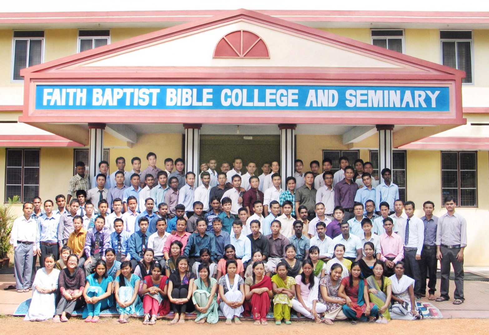 Students and Faculty of Faith Baptist Bible College & Seminary, India