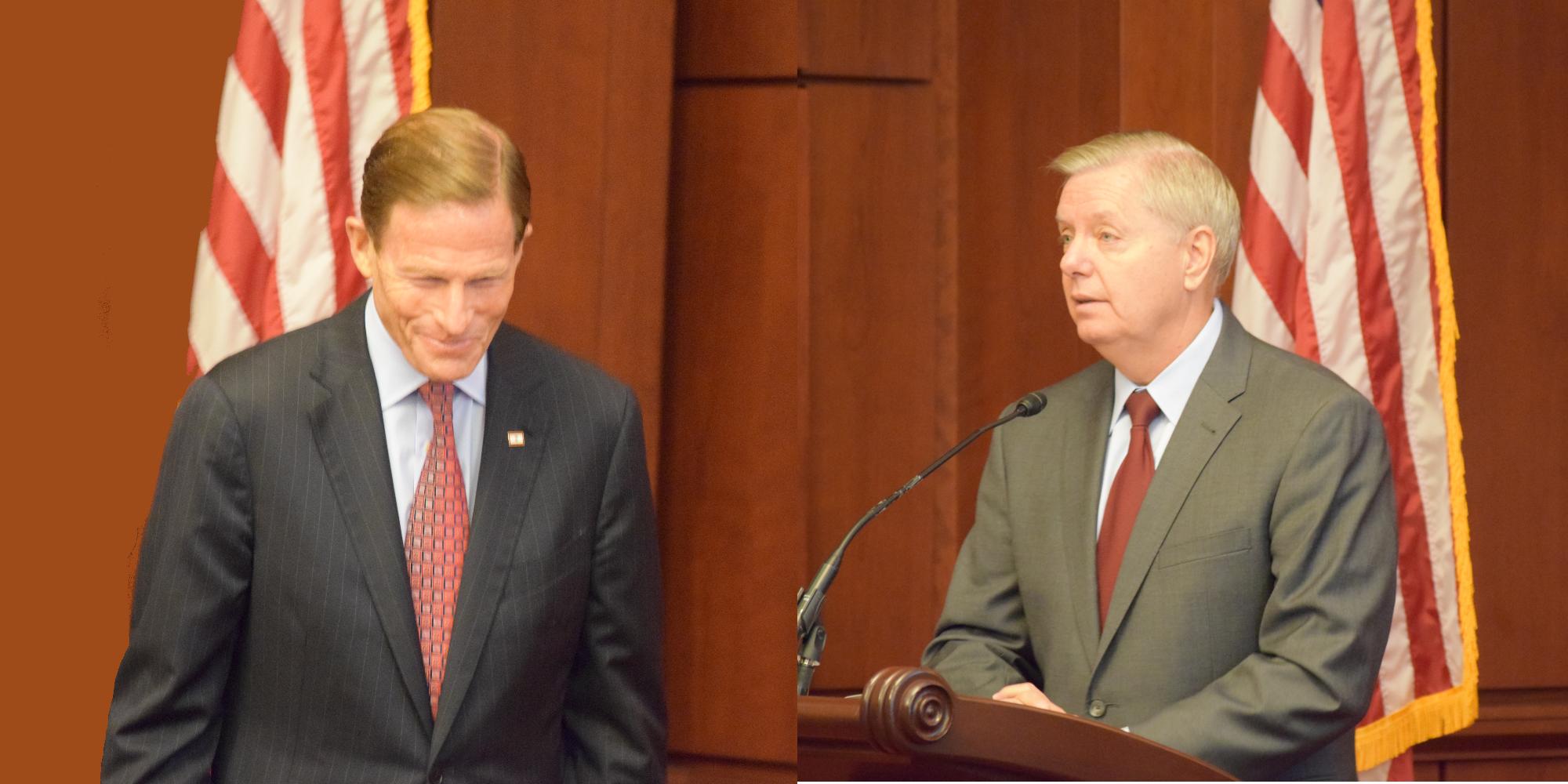 Senators Richard Blumenthal (Left) and Lindsay Graham (Right) Speak at FCHEA Policy Briefing