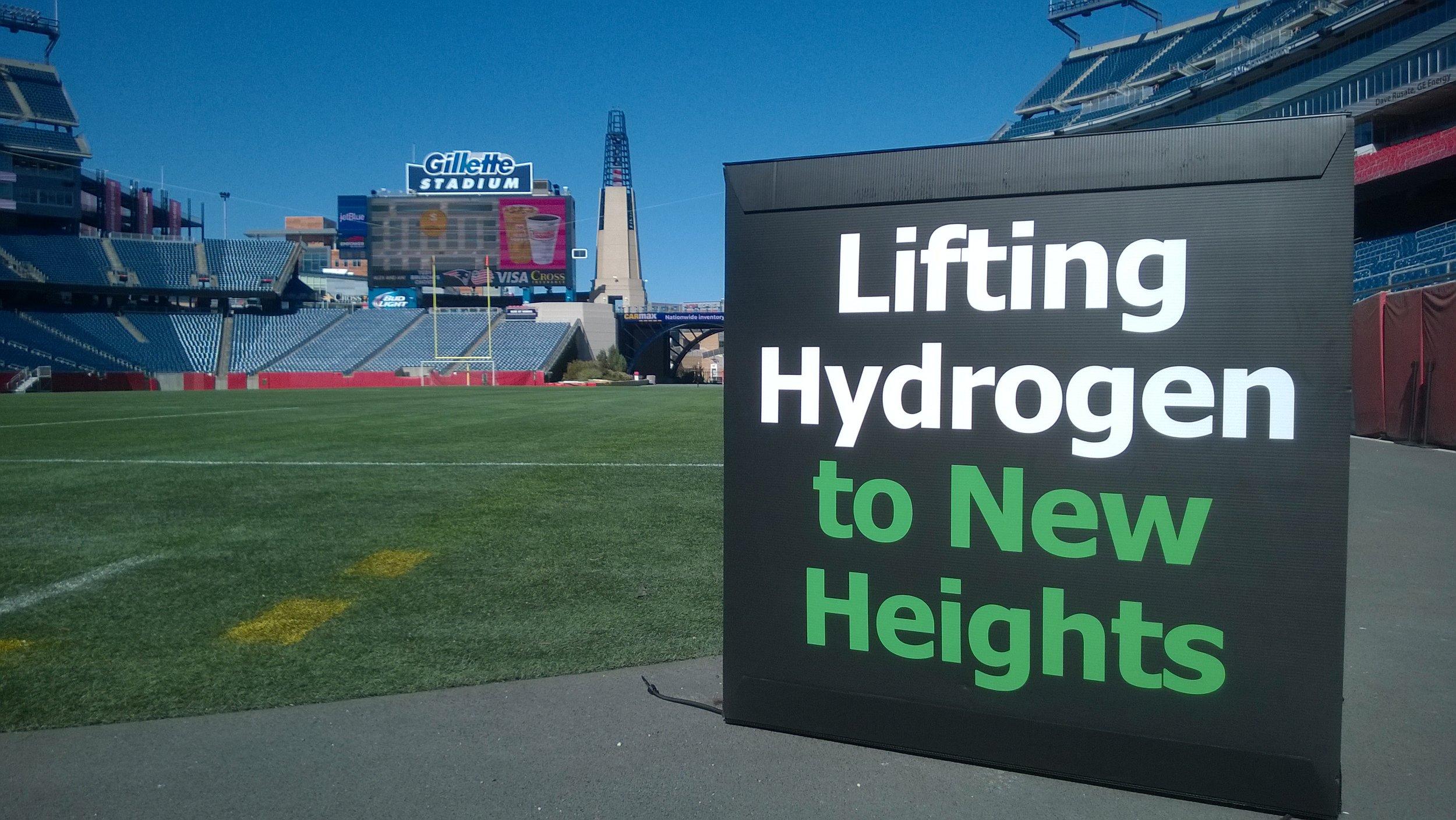 Nuvera sign at Gillette Stadium in Foxborough, Massachussetts