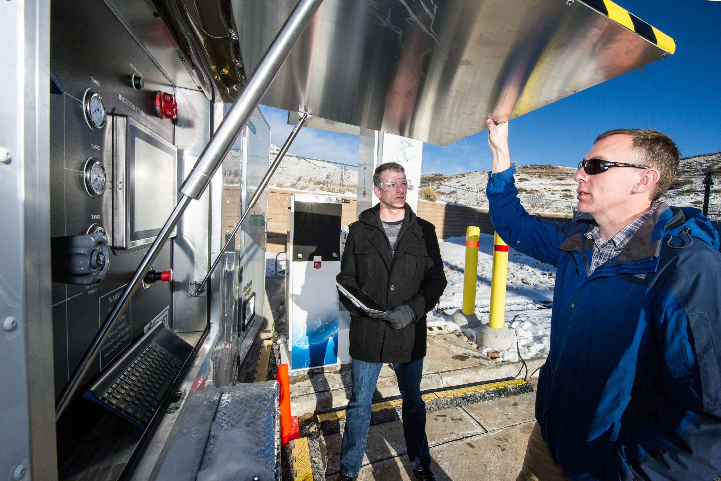 Sandia National Lab Officials with HySTEP hydrogen station testing device