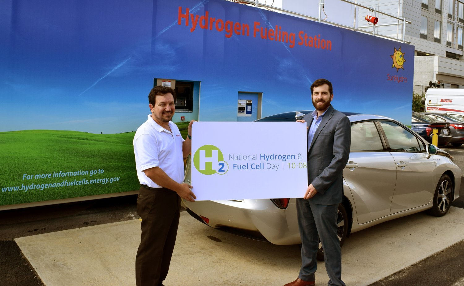 Demonstrative hydrogen fueling station in Washington, D.C. with the Toyota Mirai