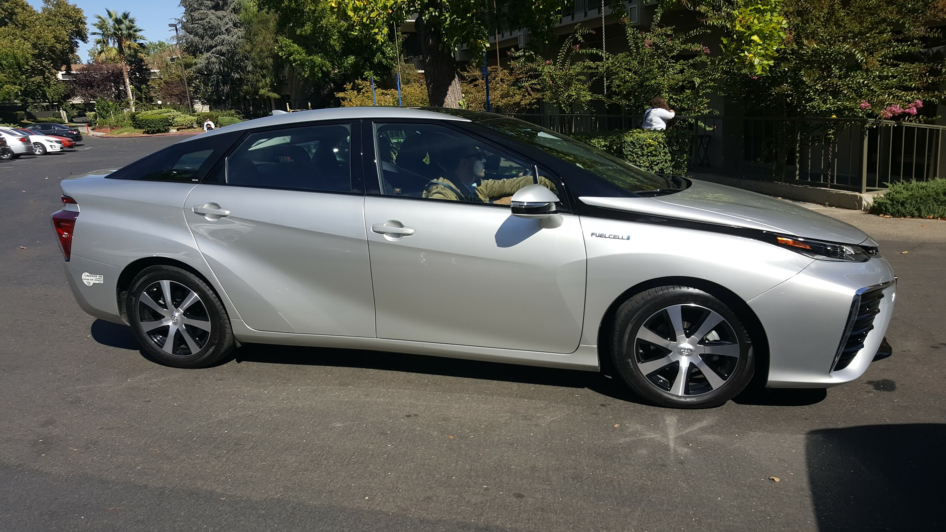 The 2016 Toyota Mirai used for the Ride and Drive at the SEJ Conference.