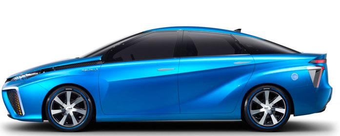 The 2018 Toyota Mirai Fuel Cell mid-size sedan.