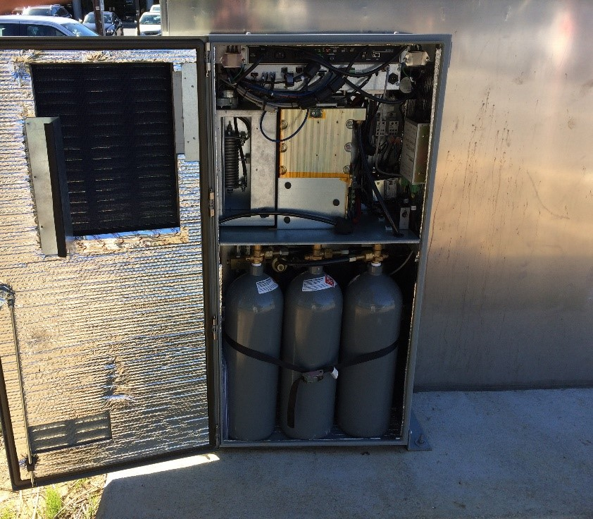 The King/Quaker/Braddock intersection hydrogen fuel cell backup generator.  Source: The City of Alexandria