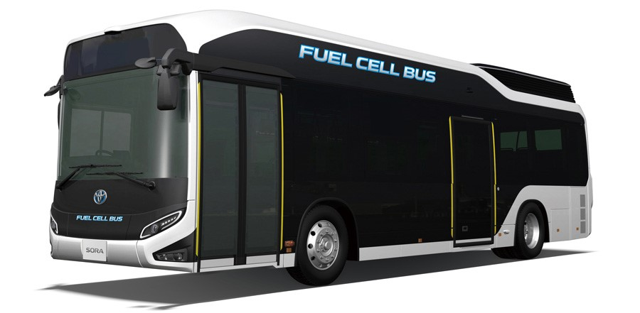 Toyota's Sora fuel cell bus. Source:: Toyota