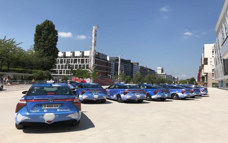 Hype FCV taxi fleet in Paris. Source: Air Liquide