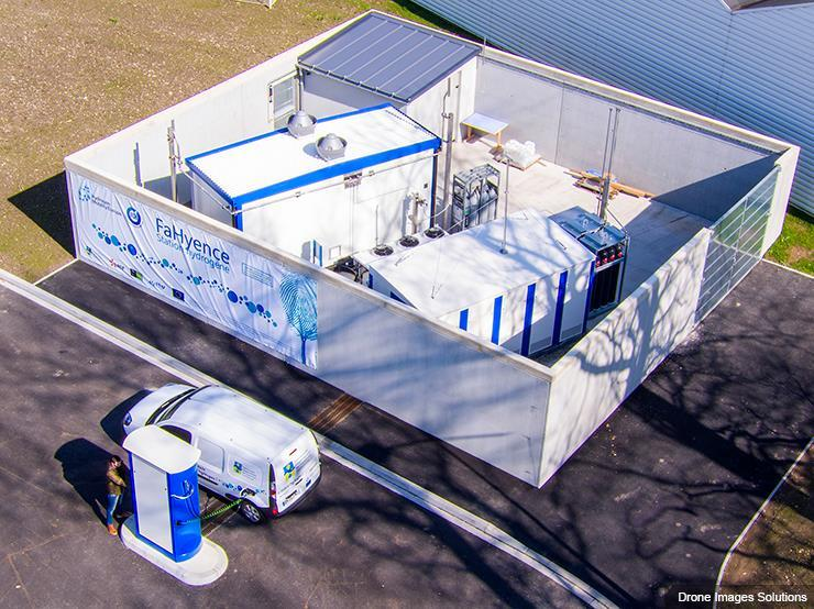 McPhy's renewably-generated hydrogen station in France. Source: gasworld.com