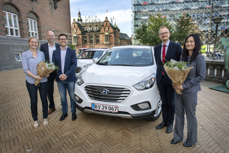 Copenhagen Mayors Driving fuel cell vehicles. Source: FCH JU
