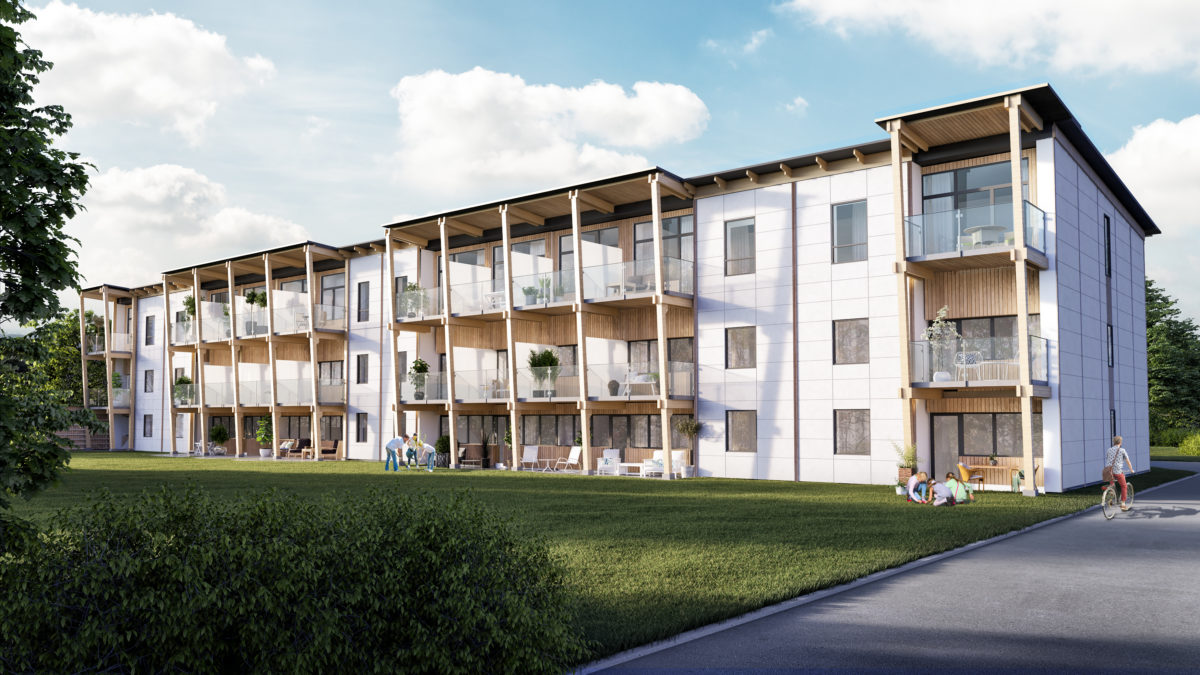 Off-grid Swedish housing block to be supplied 100% by solar energy and hydrogen. Source: Better Energy Vårgårda