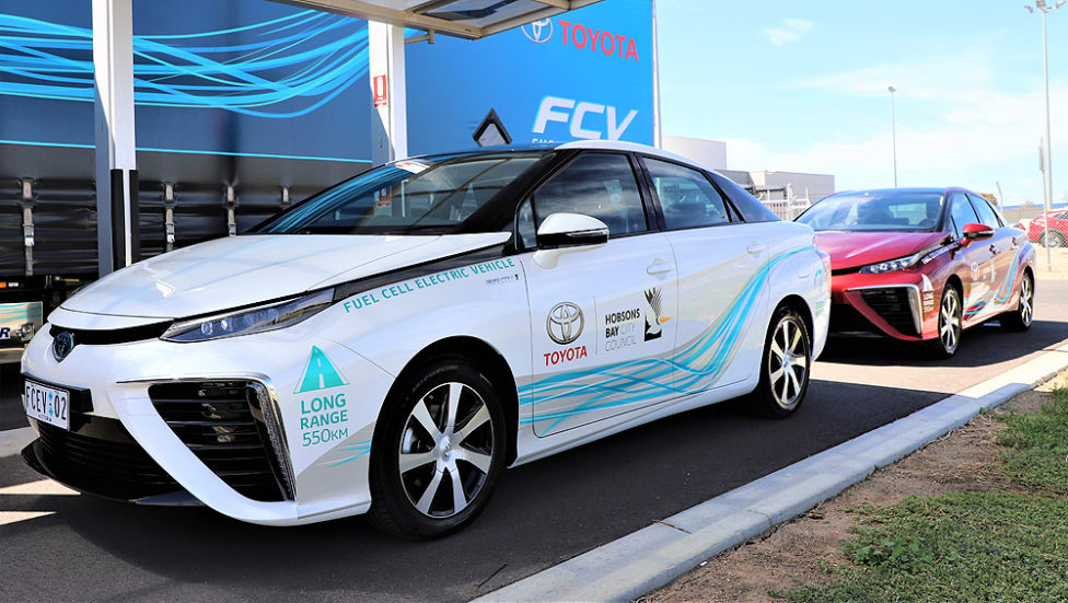 The Mirai fuel-cell vehicle will be trialed in Melbourne for 12 weeks. Source: Cars Guide