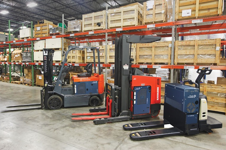 Forklifts powered by Plug Power's GenDrive Fuel Cells