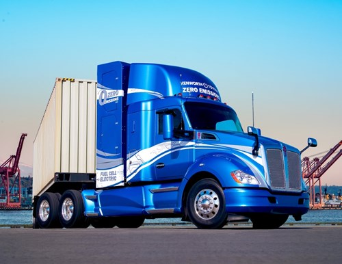 FCHEA member Toyota built this prototype truck with Kenworth for drayage operations at the Port of Los Angeles