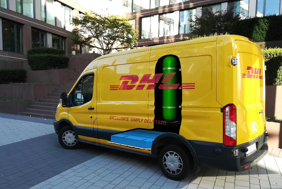 DHL fuel cell vehicle powered by FCHEA member Plug Power