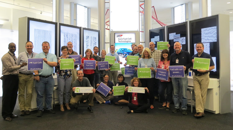 Gore Associates employees celebrate National Hydrogen & Fuel Cell Day