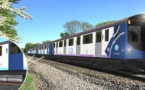 Digital rendering of the Vivarail test train  Source