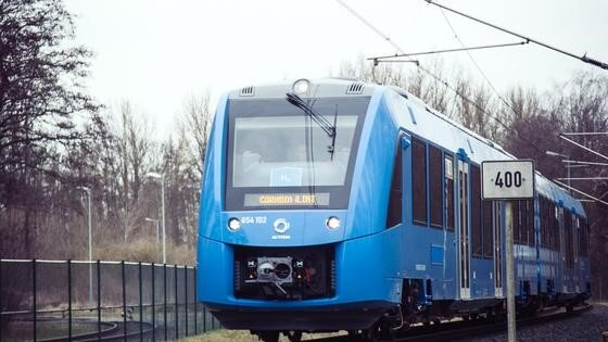 The Coradia iLint train operating in Lower Saxony  Source