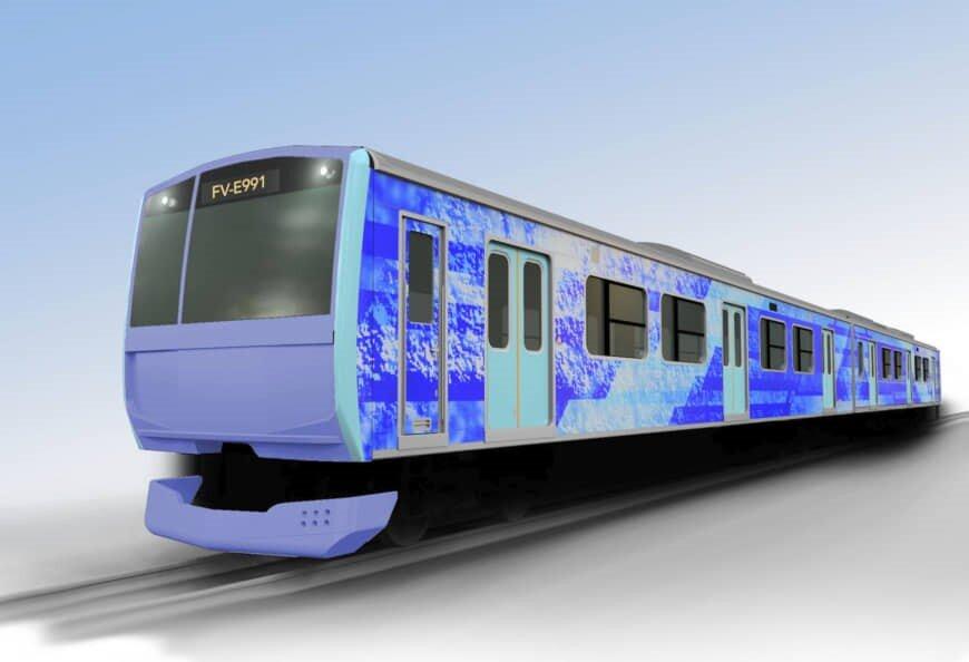 Digital rendering of the East Japan Railway Co. Hydrogen-Powered Train  Source