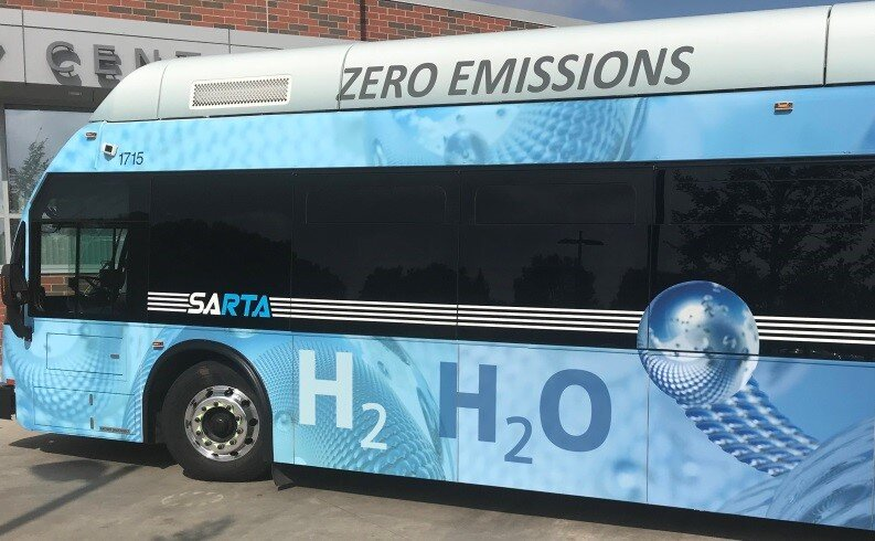 One of SARTA's hydrogen buses  Source