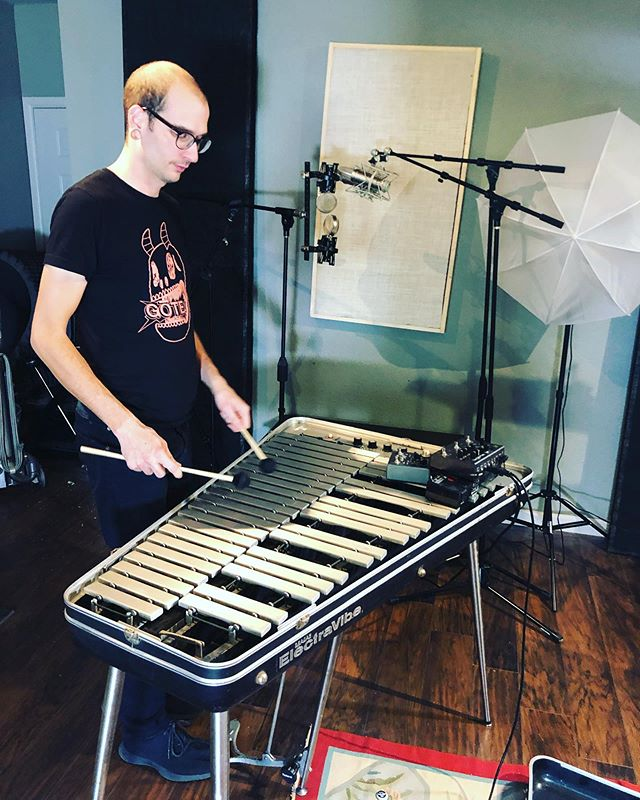 prepping for my only show of this year, @the_post_festival. oct 4 in indianapolis. bringing a completely new set of songs in a full band setup. stefan here will be playing the electric vibraphone. see you there. #postfest2019