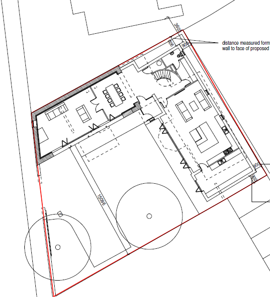 SITE PLAN SHOWING RETAINED ELEMENTS IN J3 BUILDING SOLUTIONS CASE