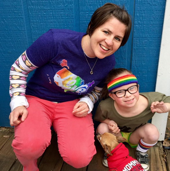 Rachel Smith, founder of Pride Socks and Ruby, the reason behind Ruby's Rainbow.