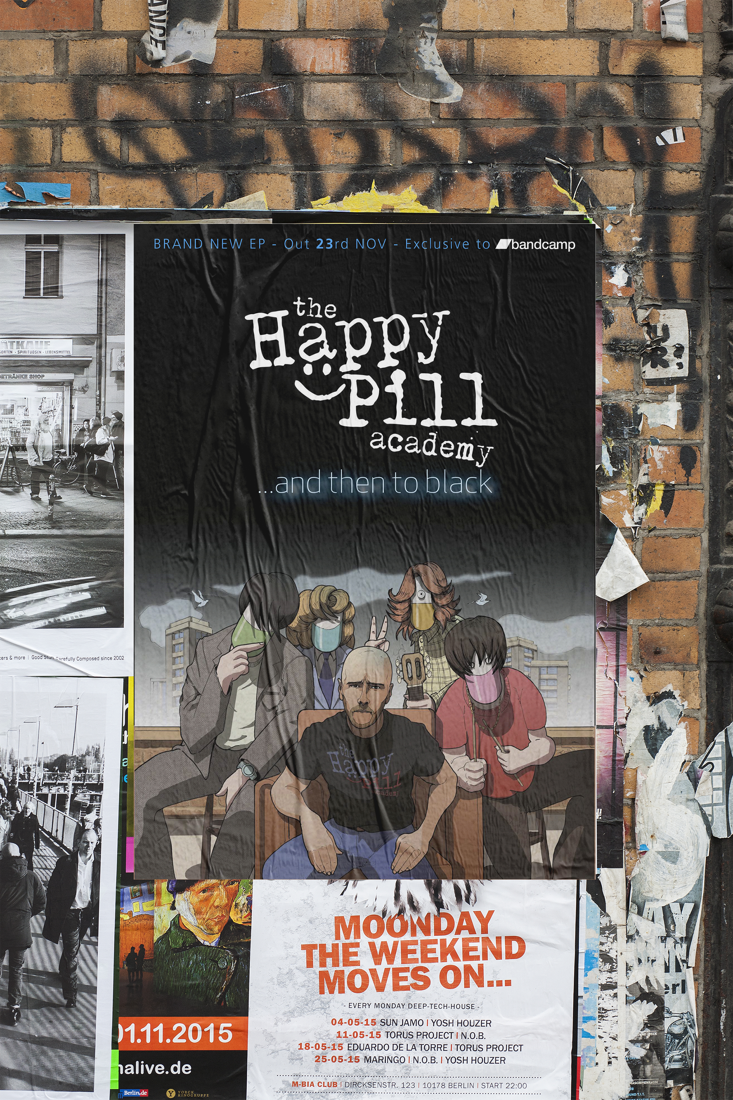Happy pill CMYK GIG Poster mockup sml.jpg