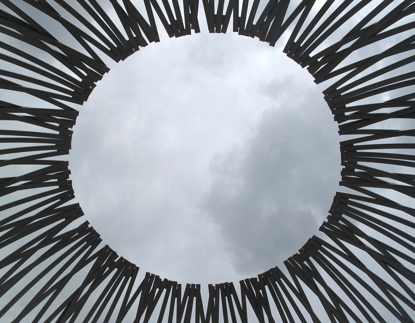 "'Havre"" from the inside, framing the clouds. Photo credit: Shelley Miller"