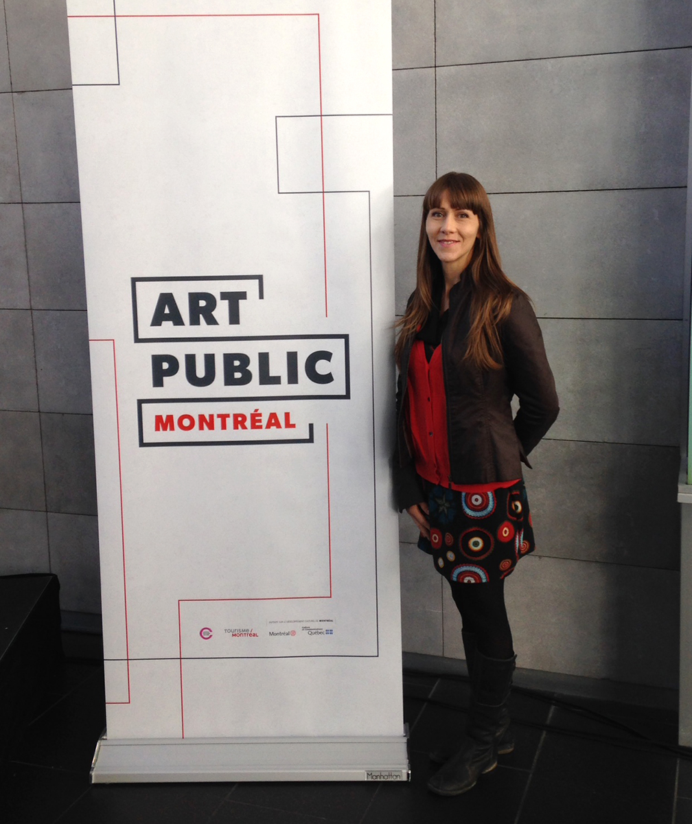 Me, at the launch of the website www.artpublicmontreal.ca