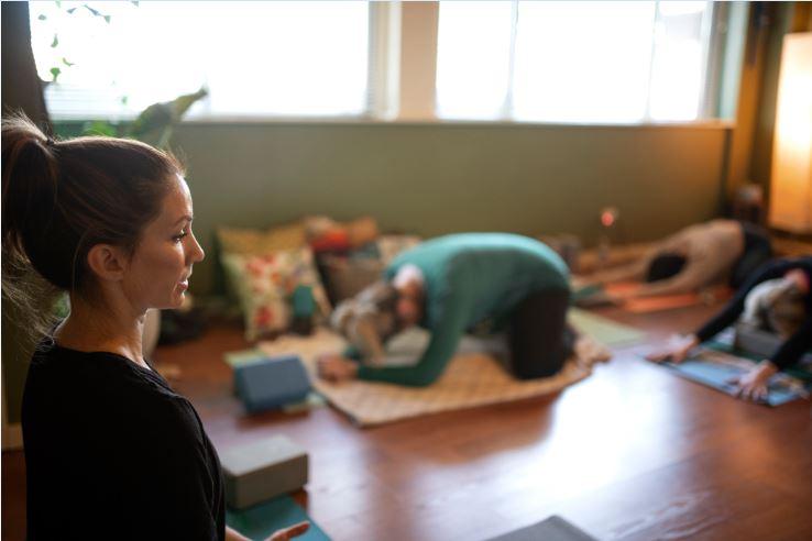 Kristin Louis Leads Prenatal Yoga and birth education