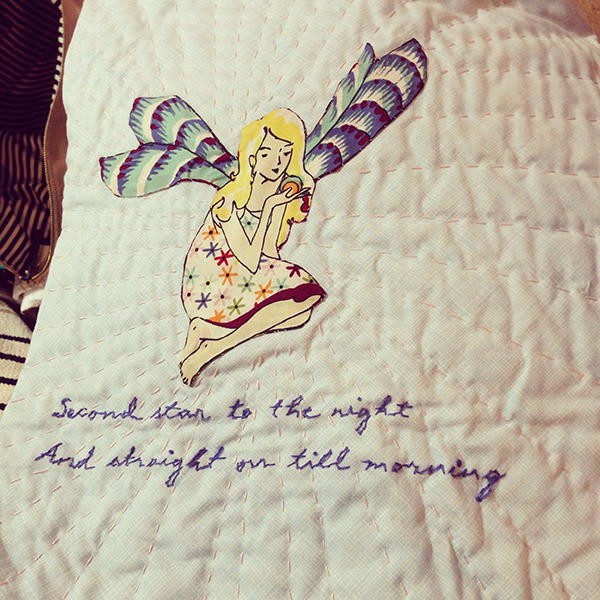 The applique and hand stitching/quilting by Callie is simply amazing, amazing, amazing.