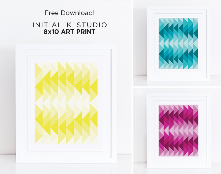 Initial K Studio Art Prints