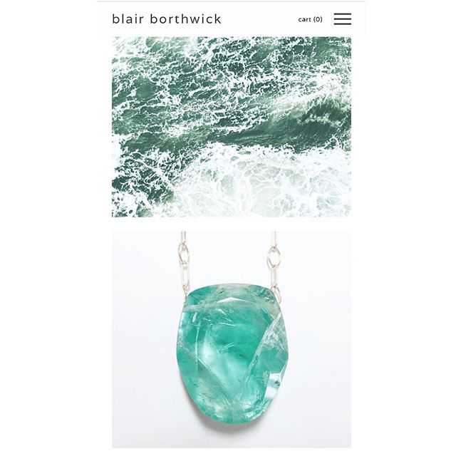 what?! juice + jewelry...yup, we make both! visit us at www.blairborthwick.com for some summer stones