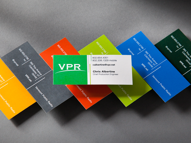 Vermont Public Radio | Business Card Design