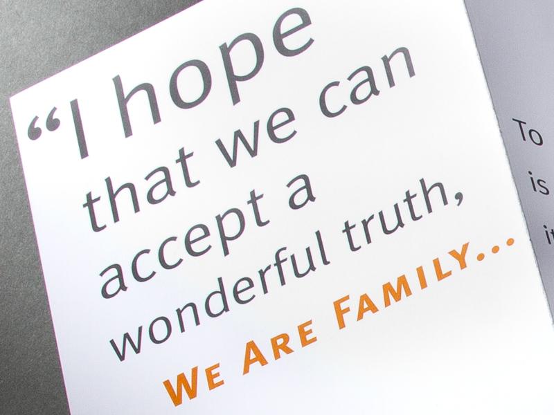 We Are Family Foundation | 2010 Celebration Gala Invitation Design Detail