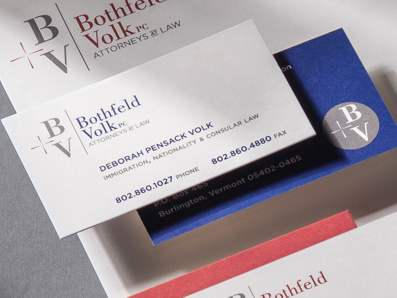 Bothfeld + Volk PC | Business Card Design Detail