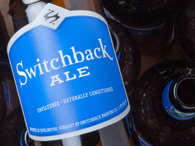 Switchback Brewing Co. | Switchback Ale Bottle Label Design