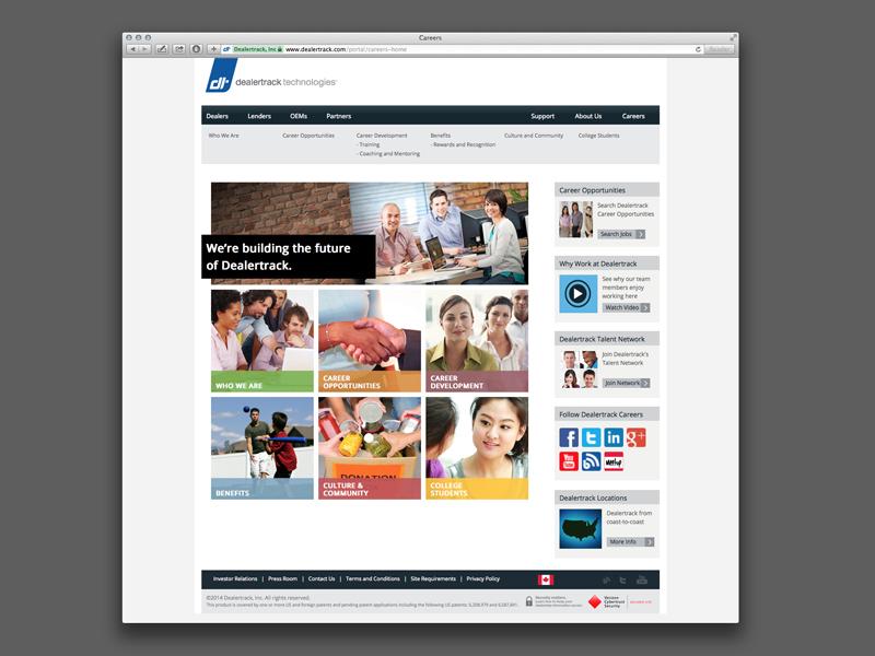 Dealertrack Technologies' Careers Website Design