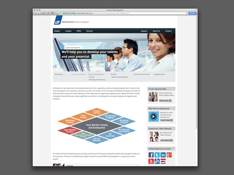 Dealertrack Technologies | Career Development Website Design