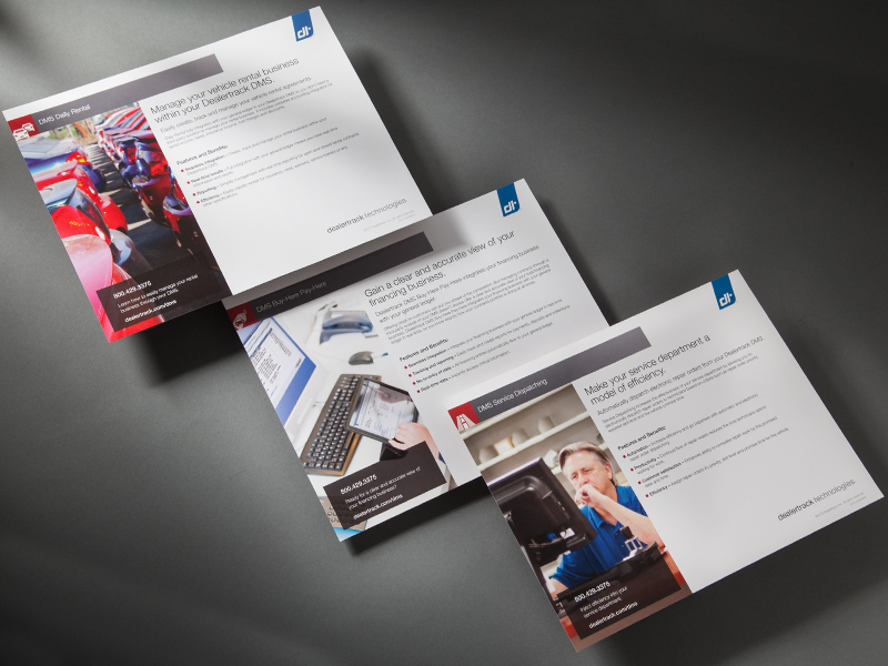 Dealertrack Technologies | DMS Series Product Sheets Design