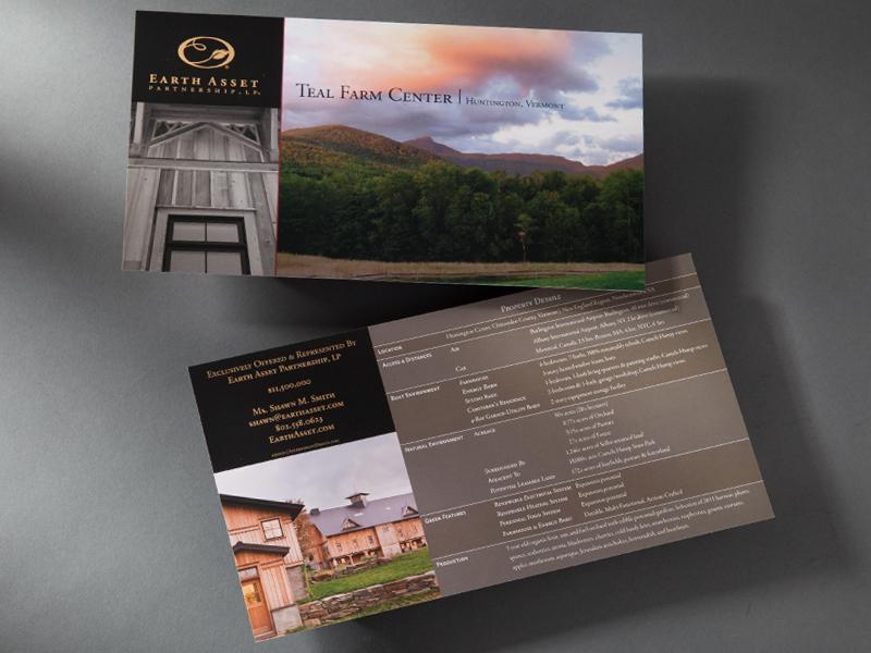 Earth Asset Partnership | Teal Farm Center Postcard Design