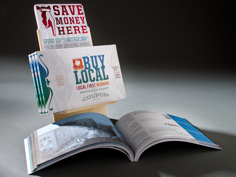 VBSR | 2010-2011 Buy Local Coupon Book Display Stand Design