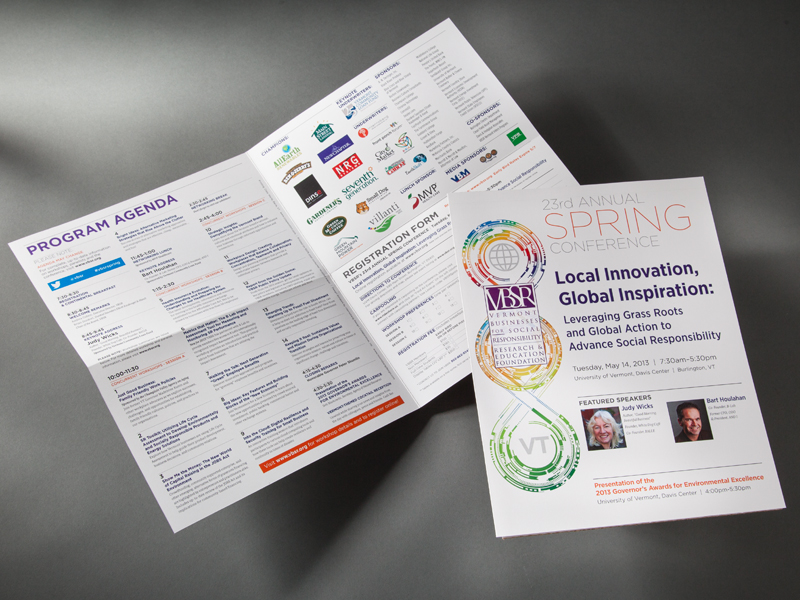 VBSR | 2013 Spring Conference Brochure Design