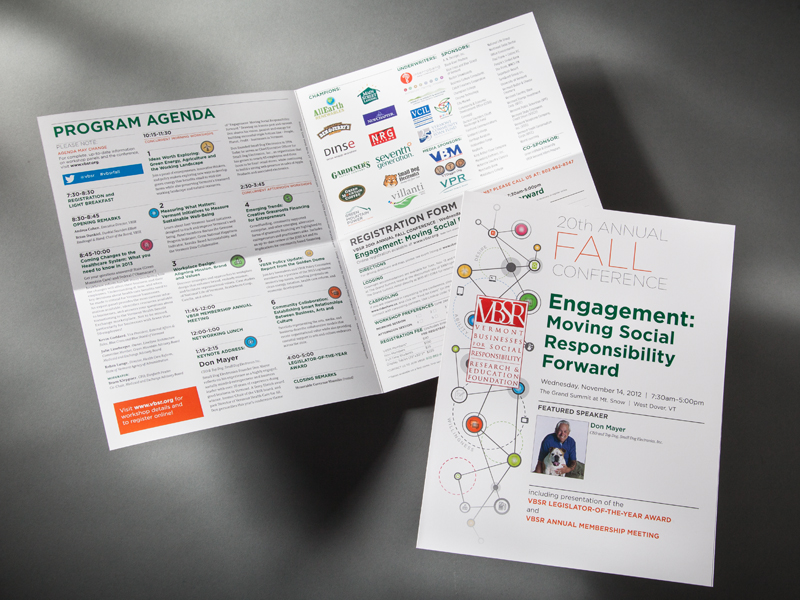 VBSR | 2012 Fall Conference Brochure Design